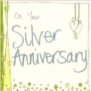 On Your Silver Anniversary Card